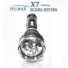 Магнитный выключатель на земле / Подводное использование 150м Водонепроницаемый фонарик погружения X7