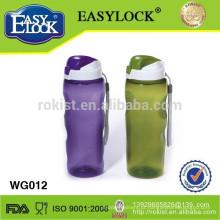 2014 garrafa de água de esportes de plástico livre BPA 760ml