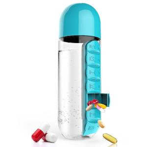 Two in one pill box water bottle