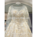 Vestido de noiva 2017 novo estilo europeu e americano de moda bordado casamento personalizado LJ10055