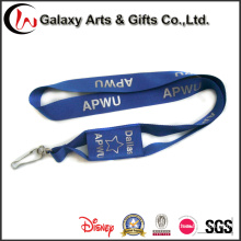 Personalized Printed Blue Polyester Phone Holder Neck Lanyard