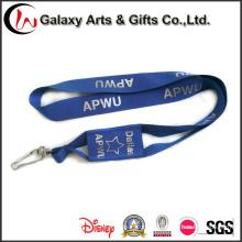 Colhedor de pescoço de suporte telefônico personalizado de poliéster azul impresso