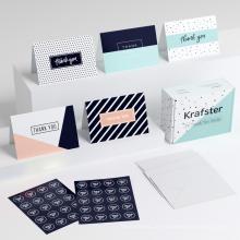 Caixa de papel de cartões de decoração conjunto - férias belo Handmade cartões de papel / Custom cartão de agradecimento