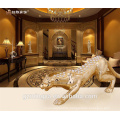 big size home decorative high quality resin leopard craft with shinny diomand