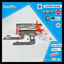 Mais novo brinquedos miúdo DIY polícia conjunto carro da polícia lote de estacionamento brinquedo