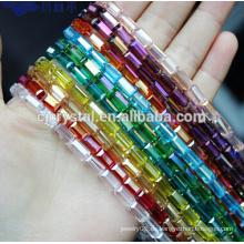 Perlas de cristal hebras cuentas cuadradas