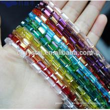 Perles de cristal perles de perles carrées