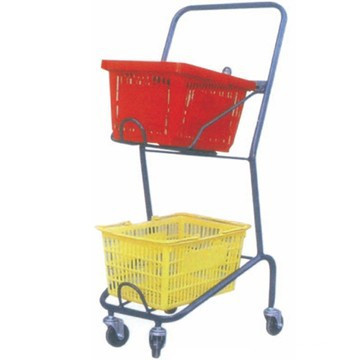 best popular Double Basket Shopping Cart