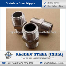 Optimum Durability Stainless Steel Nipples Available in Various Sizes