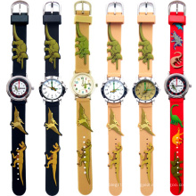 Fashion Silicone Slap Japan Quartz Wrist Children Watch