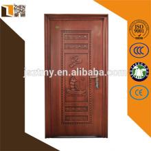 Porta de segurança de aço barato de alta qualidade, nova porta de design