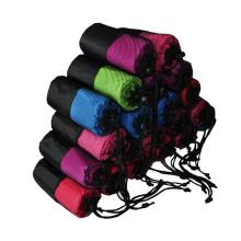 Hot sale personalizado microfibra yoga toalha com saco