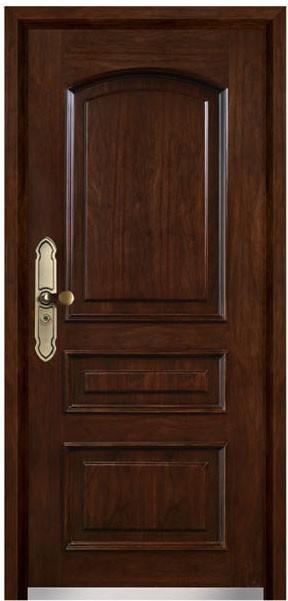 Porte blind e en bois en acier - Chatiere porte en bois ...