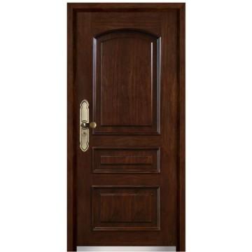porta blindada de aço de madeira