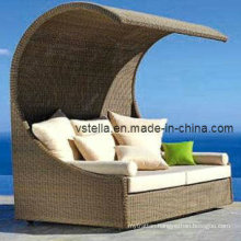 Outdoor Beach Garden Rattan Wicker Sunbed Furniture