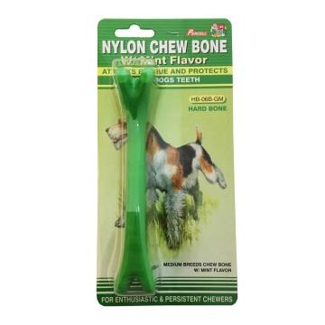 Juguete masticable para perros, de nylon, medio y menta.