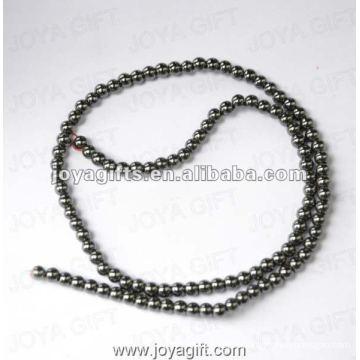 """3MM Loose Hematite Round Beads 16"""""""