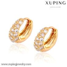 28784- Boucles d'oreilles Xuping Fashion Hoop avec plaqué or 18 carats pour femme