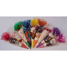 Popular Cone Cellophane Favor Bags For Sweets