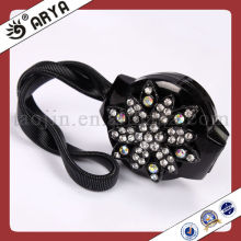 Black Magnetic Curtain Clips With Rhinestone Decorative Flower Curtain Hook