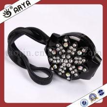 Clips de cortina magnéticos pretos com gancho decorativo de cortina de flores com strass