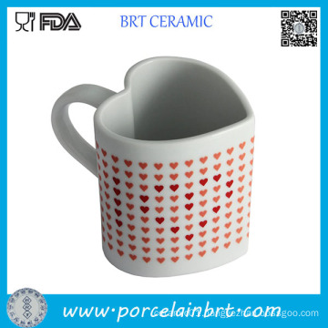 Heart Shape Heat Sensitive Ceramic Coffee Mug