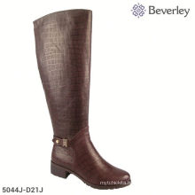 Snake Pattern Chengdu Haixin Shoes Women Winter Knee Boots For Widen Feet