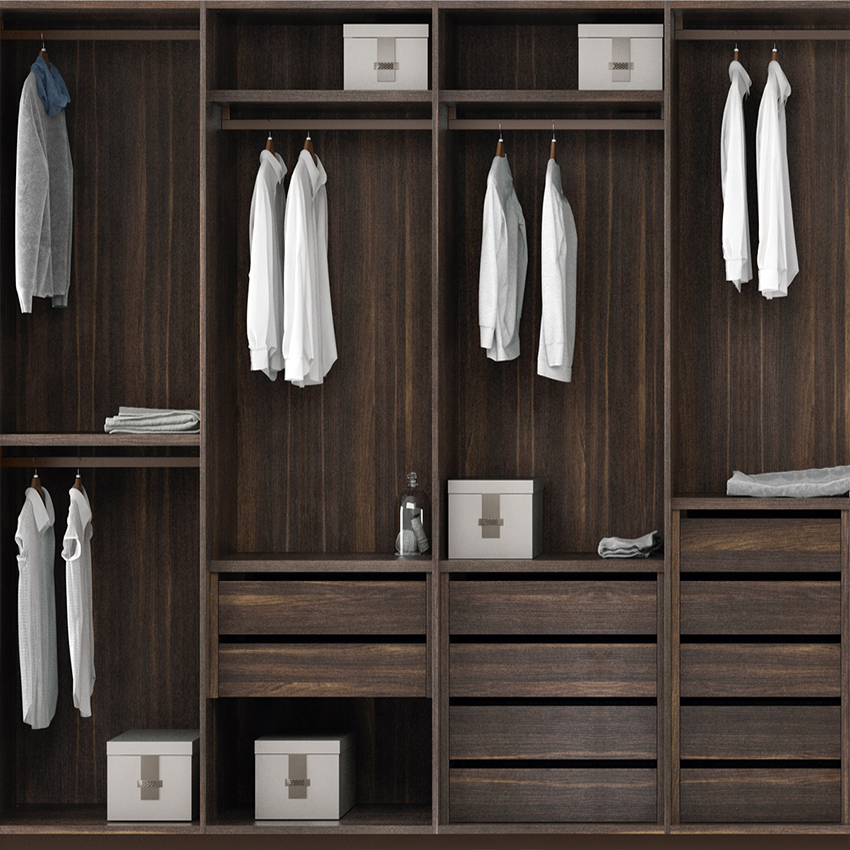 Custom Black Luxury Bedroom Wardrobe-2