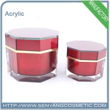 Novo design atacado cosméticos embalagem acrílico face creme jar