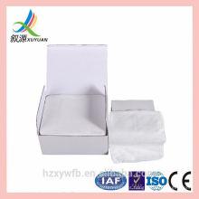 Venda quente Spunlace seca toalhetes de limpeza facial