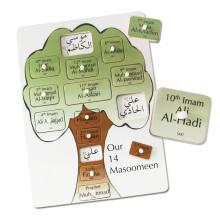 Pädagogische Kinder Wooden Arabic Alphabet Puzzle