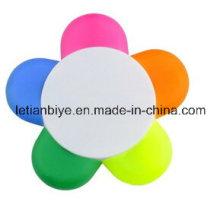 Pena da flor caneta de marca-texto colorido multi (lt-c272)