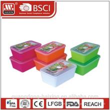 Recipiente de alimentos microondas redondo plástico conjunto 2pcs (1.65L/2.5L)