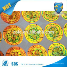 Made in china retail colour printer gold custom diy hologram sticker, diy hologram sticker custom