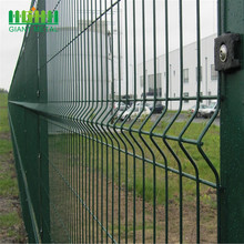 PE+coated+Galvanized+3D+bending+mesh+fence