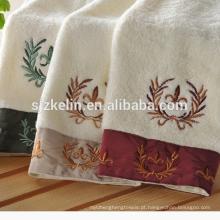 Toalhas de banho de algodão bordadas estilo Europa