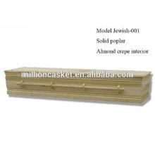 ataúd judío personalizado con tornillos madera estilo fácil