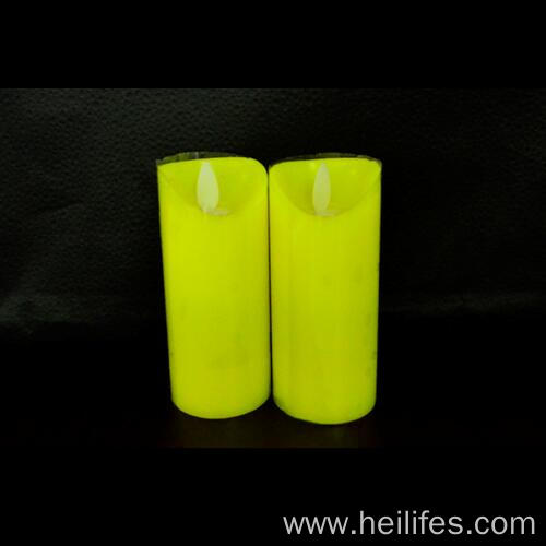 Yellow Candle for Decorations LED Light