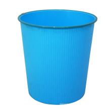 Lixeira de lixo de plástico azul aberto (B06-930-3)