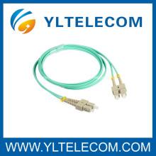 Cordon duplex de mode multi sc à sc Cordon de fibre optique pour FOS / LAN / FTTH