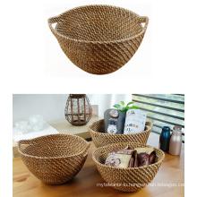 (BC-R1010) Pure Manual Craft Natural Rattan Basket