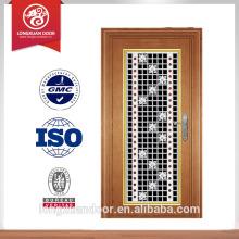 Porte double entrée de luxe porte principale porte extérieure en acier