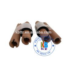 Fita de transferência térmica lavável preta de impressão de etiqueta de cuidado de lavagem de tecido