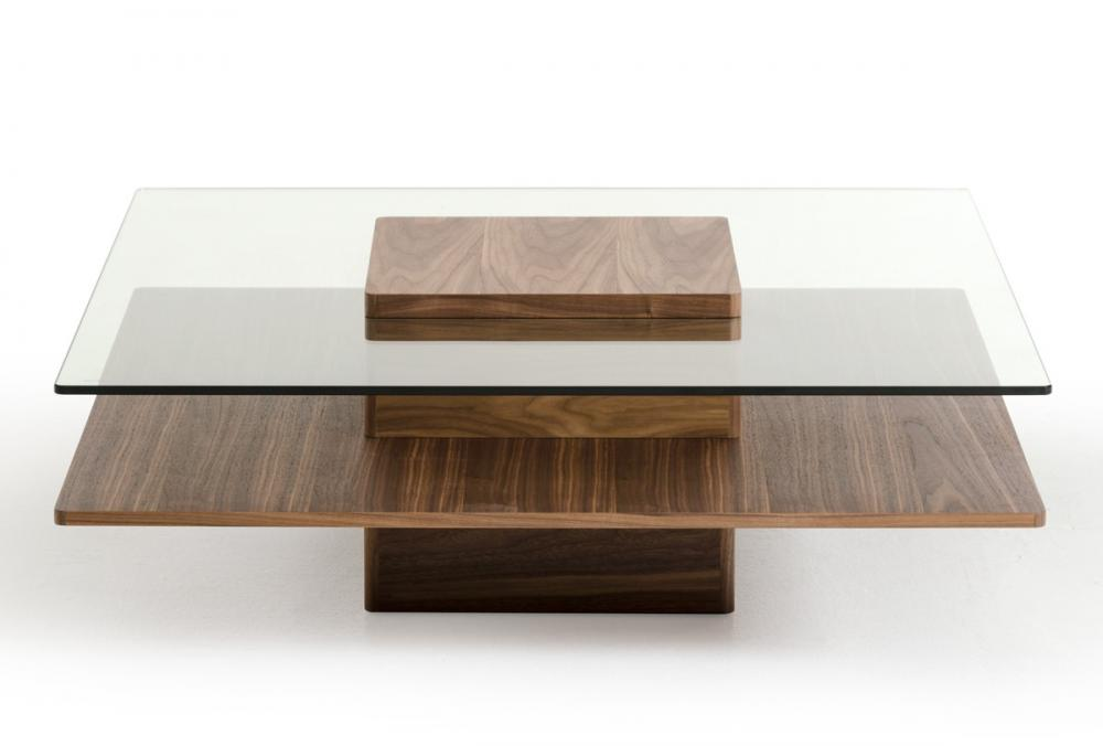 Tables basses contemporaines table basse en noyer
