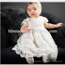 2017 Bebê Recém-nascido Menina Batismo Vestido de Renda Princesa Primeiro Aniversário Outfits Infantil Festival Vestido de Festa Batismo Tutu Vestidos