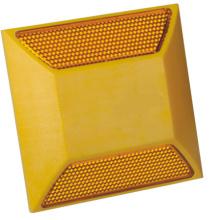 Солнечный светоотражающая желтые пластиковые дорожные кнопки