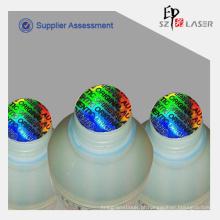 Costume da calcadeira evidentes etiquetas holográficas com Design geral