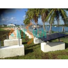 Système de montage de support de béton solaire