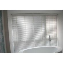 White ladder tape basswood window blinds