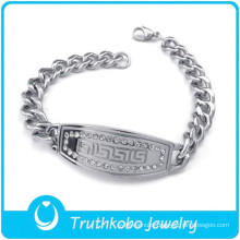 Fashion men's bracelet men's silver bracelet stainless steel men bracelet